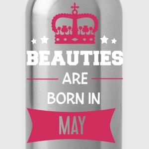 Beauties are born in May Långärmade T-shirts - Vattenflaska
