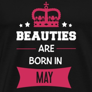 Beauties are born in May Shirts met lange mouwen - Mannen Premium T-shirt