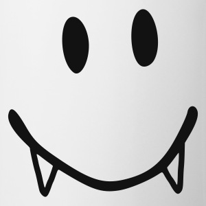 White smiley vampire  Aprons - Mug
