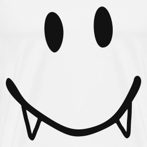 Blanc smiley vampire Tabliers - T-shirt Premium Homme