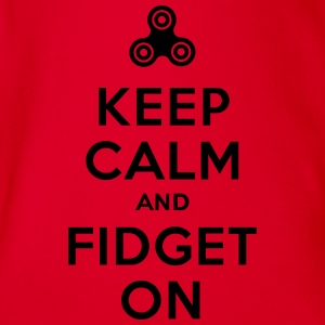 Keep calm and fidget on - Fidget Spinner Shirts - Organic Short-sleeved Baby Bodysuit