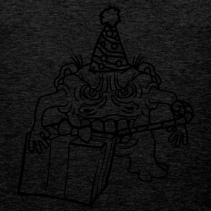 birthday party hat Trote feire monster lite frekk  T-skjorter - Premium singlet for menn