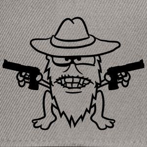Cowboy pistols gangster raid shoot evil raiders th T-Shirts - Snapback Cap