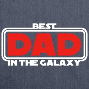 Best Dad in the Galaxy (dark) T-Shirts - Shoulder Bag made from recycled material