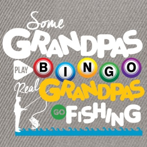 Real Grandpas Go Fishing T-Shirts - Snapback Cap