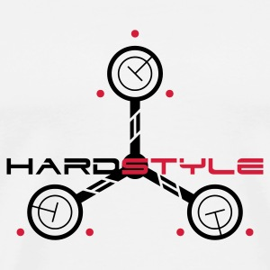 Hardstyle Tech 3 Rave Quote Buttons - Mannen Premium T-shirt