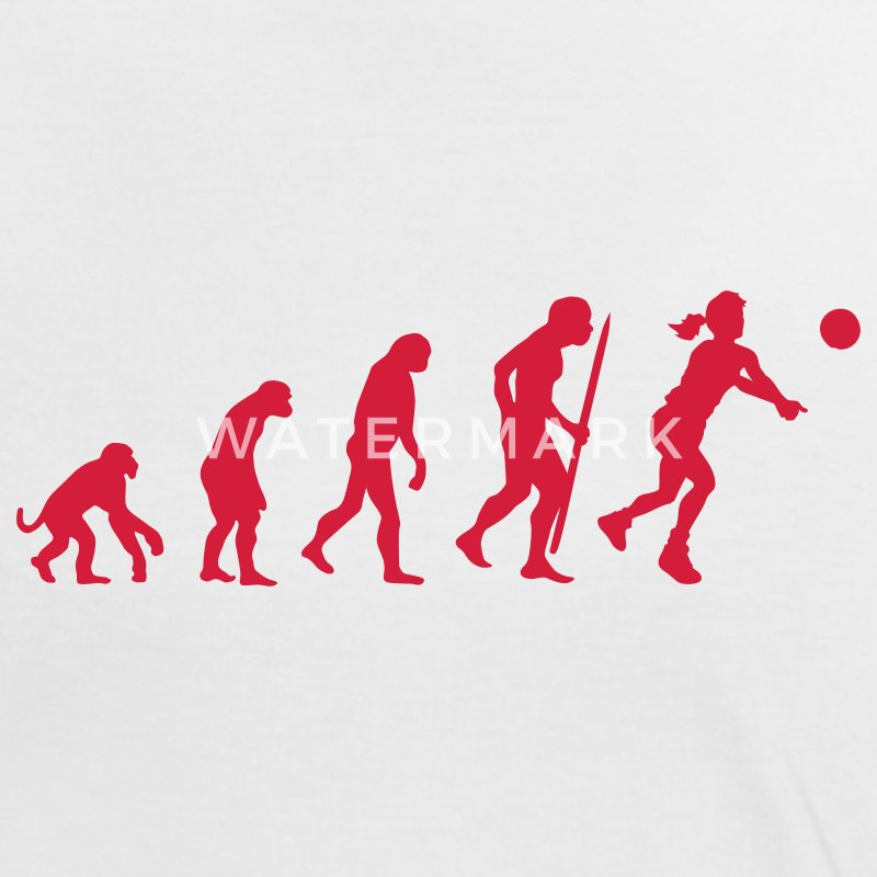 White/red evolution of beach volleyball  Women's T-Shirts - Women's Ringer T-Shirt