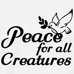 Peace for all Creatures Sportbekleidung - Männer Premium T-Shirt