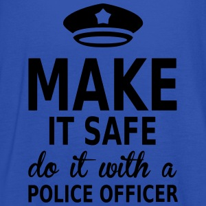 make it safe do it with a police officer Tee shirts - Débardeur Femme marque Bella