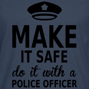 make it safe do it with a police officer Tee shirts - T-shirt manches longues Premium Homme