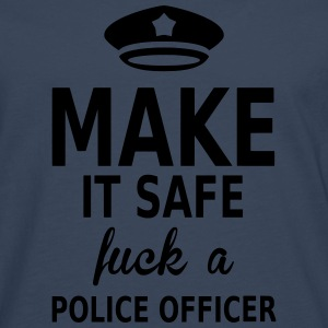 make it safe fuck a police officer Tee shirts - T-shirt manches longues Premium Homme