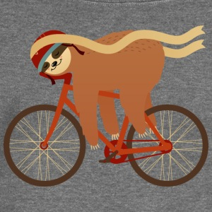 Sloth Sleeping On Bicycle T-Shirts - Women's Boat Neck Long Sleeve Top
