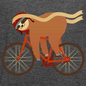 Sloth Sleeping On Bicycle T-Shirts - Women's Tank Top by Bella