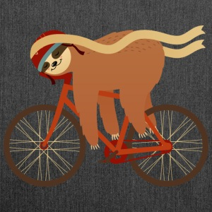 Sloth Sleeping On Bicycle T-Shirts - Shoulder Bag made from recycled material