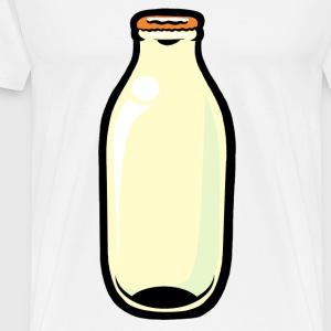 White Milk Bottle Buttons - Men's Premium T-Shirt