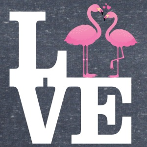 Love Flamingo Couple with heart Tee shirts - Sweat-shirt Homme Stanley & Stella