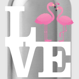 Love Flamingo Couple with heart Tee shirts - Gourde