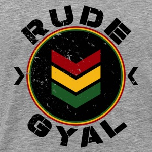 Rude Gyal black distressed Tops - Männer Premium T-Shirt