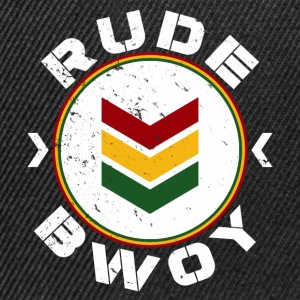 Rude Bwoy white distressed T-Shirts - Snapback Cap