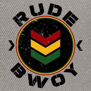 Rude Bwoy black distressed T-Shirts - Snapback Cap