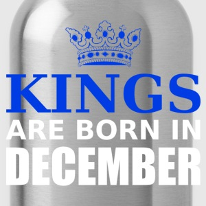 kings are born in december T-Shirts - Water Bottle