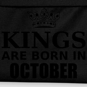 kings are born in october T-Shirts - Kids' Backpack