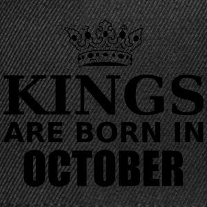kings are born in october T-Shirts - Snapback Cap