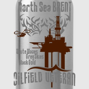 North Sea Tiger Brent Oil Rig Veteran - Water Bottle