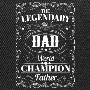 The Legendary Dad World Champion Father T-Shirts - Snapback Cap