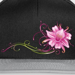 Colorful orchid with filigree ornament Bags & Backpacks - Snapback Cap