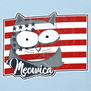 FREEDOM Cat USA Flag - Patriotische Katze Baby Bodys - Kinder Bio-T-Shirt