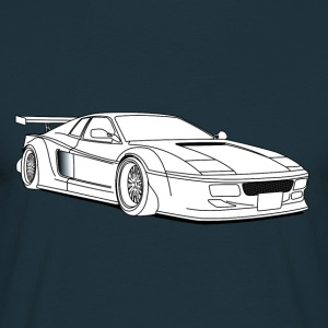 cool car white Gensere - T-skjorte for menn