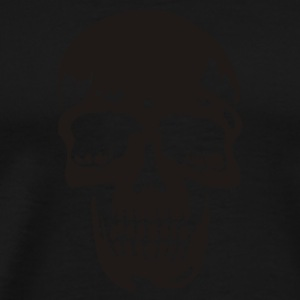 Svart skull pirate death heavy metal Gensere - Premium T-skjorte for menn