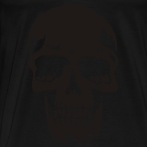 Svart skull pirate death heavy metal Babybody - Premium-T-shirt herr