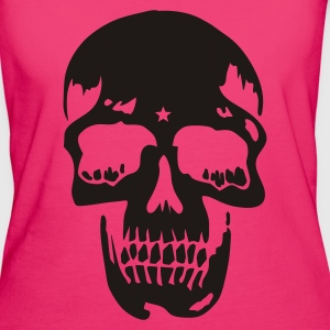 Jeans blue skull pirate death heavy metal Bags  - Women's Organic T-shirt