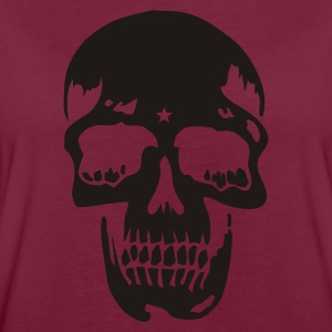 Bordeaux skull pirate death heavy metal Kookschorten - Vrouwen oversize T-shirt