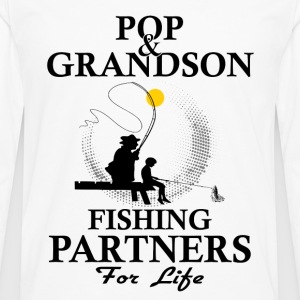 Pop And Grandson Fishing Partners For Life Shirts - Men's Premium Longsleeve Shirt
