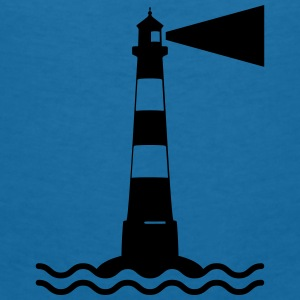 Lighthouse waves sea shipping sea coast Baby Bibs - Women's V-Neck T-Shirt