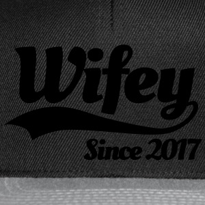 Wifey since 2017 (couples) T-Shirts - Snapback Cap
