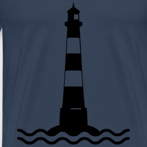 Lighthouse waves sea shipping sea coast Hoodies & Sweatshirts - Men's Premium T-Shirt