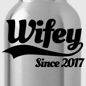 Wifey since 2017 (couples) T-Shirts - Water Bottle