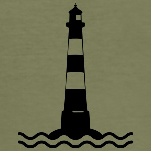 Lighthouse waves sea shipping sea coast Other - Men's Slim Fit T-Shirt