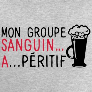 groupe sanguin a peritif citation alcool Tee shirts - Sweat-shirt Homme Stanley & Stella