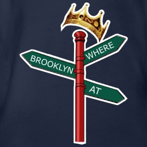 Where Brooklyn At T-shirts - Kortærmet babybody, økologisk bomuld