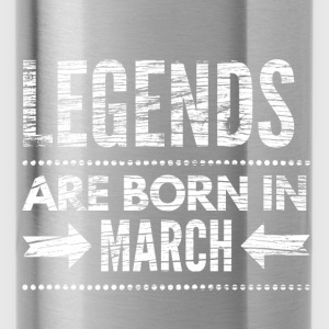 Legends are born in march verjaardags shirt design Shirts - Drinkfles