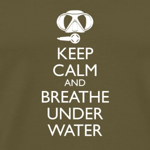 Keep calm and breathe under water Umhängetasche - Männer Premium T-Shirt