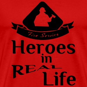 Heroes in Real Life (Feuerwehr - Fire Service) Sports wear - Men's Premium T-Shirt