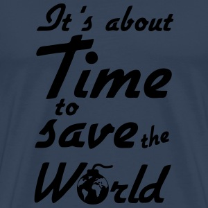 Time to save the World Sports wear - Men's Premium T-Shirt