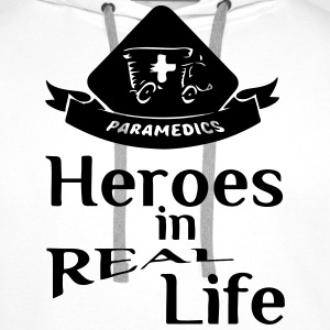 Heroes in Real Life (Sanitäter - Paramedics) Tops - Men's Premium Hoodie
