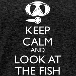 Keep Calm And Look At The Fish Männer Tank Top - Männer Premium T-Shirt